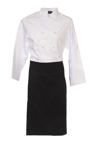 Black Calf Length Apron with NO Pocket