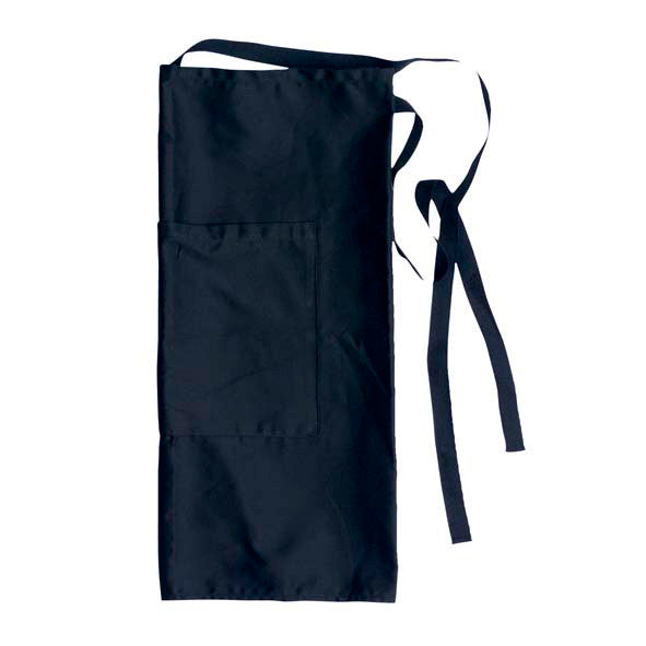 JB's Black Calf Length Apron with Pocket