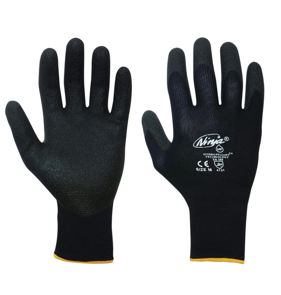 Ninja Palm Coated Black Work Glove