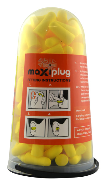 Maxisafe MaxiPlug Tradies Uncorded Ear Plugs 100 Pack