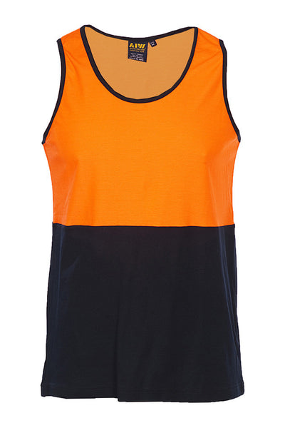 AIW HiVis Cotton Backed Safety Singlet