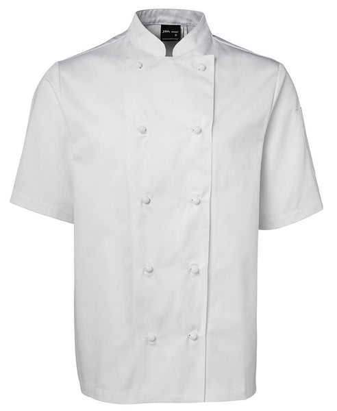 JB's Unisex Short Sleeve White Chef Jacket