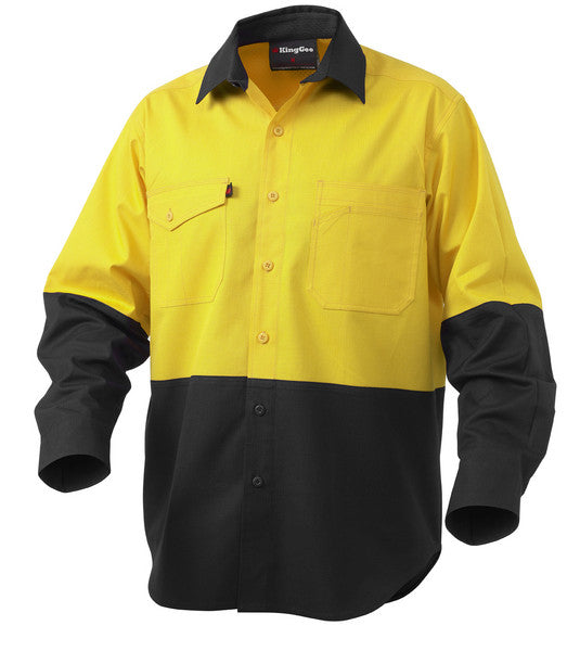King Gee Workcool Rip Stop HiVis Shirt