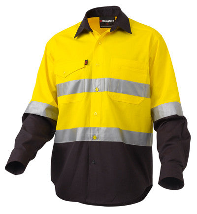 King Gee Workcool Rip Stop Reflective HiVis Shirt