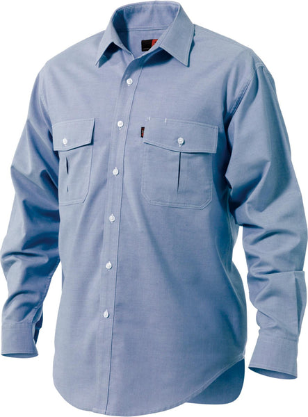 King Gee Blue Oxford Long Sleeve Shirt