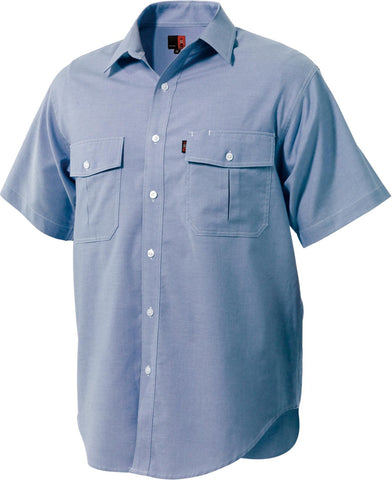 King Gee Blue Oxford Short Sleeve Shirt