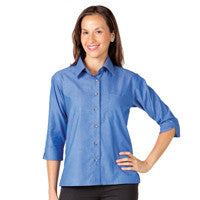 Ladies Indigo 3qtr Sleeve Shirt