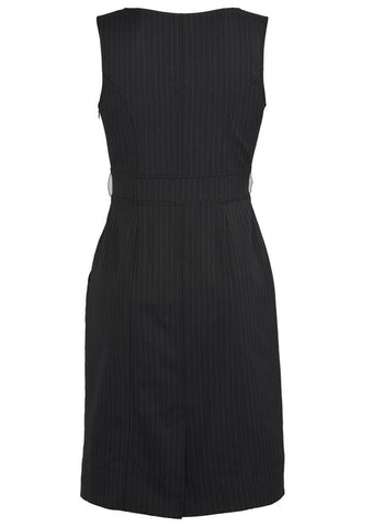 Biz Corporate Pinstripe Sleeveless Dress