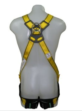 MSA WORKMAN Crossover Safety Harness With D Ring on Front & Back and Aluminium Buckles