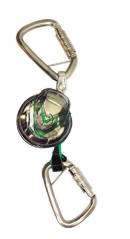 MSA V-TEC MINI PFL Webbing Self Retracting Lifeline with Steel Triple Action Karabiner
