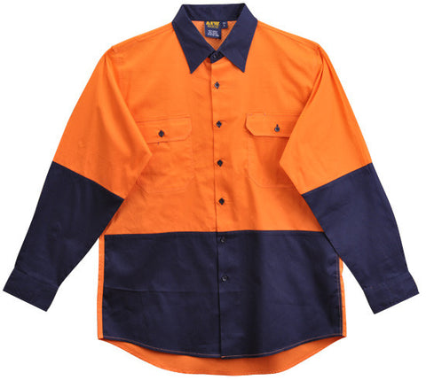 AIW Hi Vis Cool Breeze Long Sleeve Safety Shirt