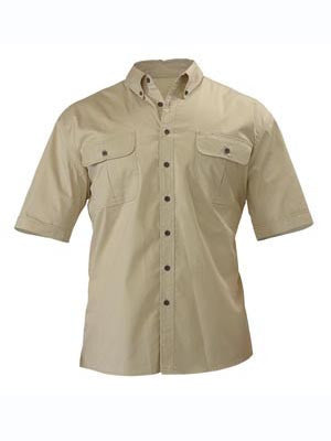 Bisley Mens Mini Twill Short Sleeve Shirt