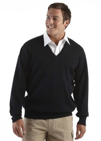 JB'S Mens Wool Mix V Neck Jumper