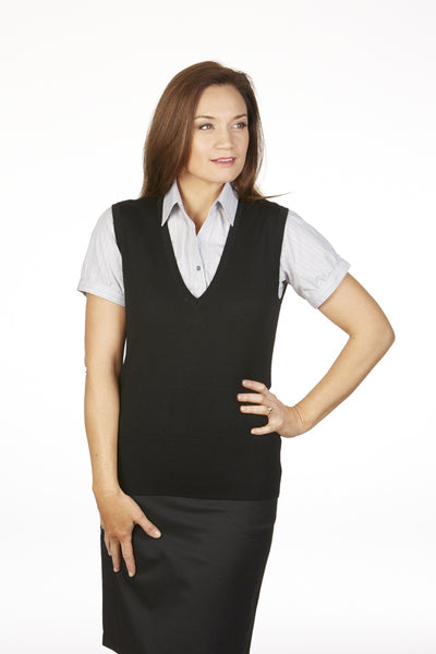 Monday to Friday Extended V-Neck Wool Vest