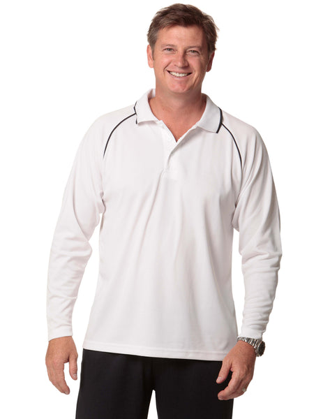 Mens Marathon Long Sleeve Polo