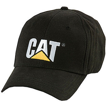 CAT Black Trademark Cap