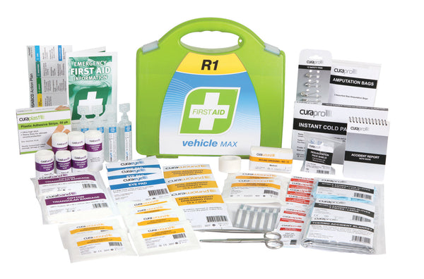 FastAid R1 Vehicle Max First Aid Kit (Hard Plastic)