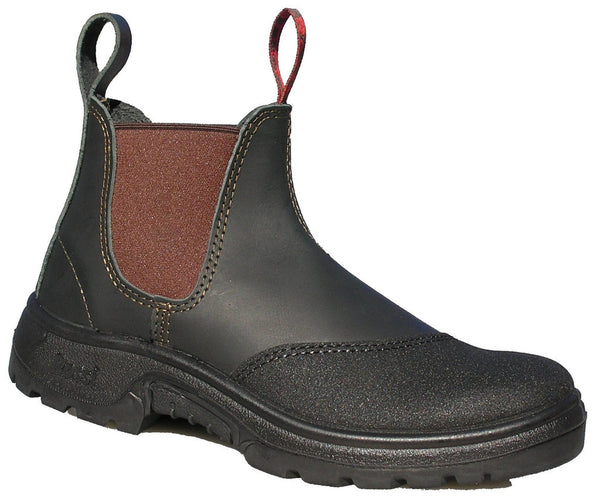 Rossi Hercules Steel Toe Pullon Work Boot with Leather Toe Cover