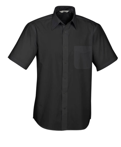 Biz Mens Base Poplin Short Sleeve Shirt