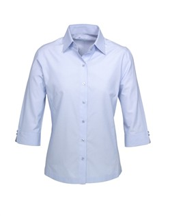 Ladies Blue Ambassador 3qtr Sleeve Shirt