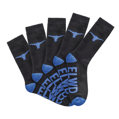 ELWD Ladies 5 Pack Crew Work Socks