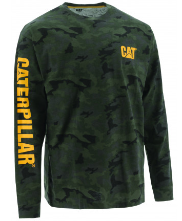 CAT Trademark Banner Long Sleeve Tee