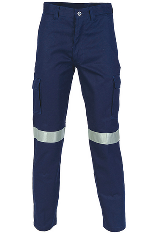 CLEARANCE -DNC Mens Cotton Drill Cargo Pant with Tape