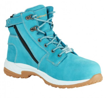 King Gee Women's Teal Tradie Composite Toe Side Zip Safety Boot