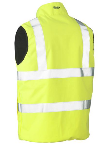 Bisley Taped Hi Vis Reversable Puffer Vest
