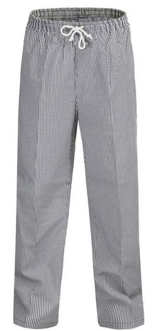 Chefcraft Unisex Check Drawstring Pant
