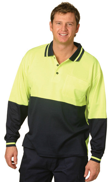 HiVis Truedry Cotton Backed Long Sleeve Polo