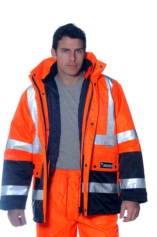 Huski HiVis Venture 4 in 1 Waterproof Jacket