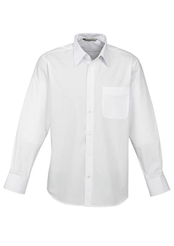 Biz Mens Base Poplin Long Sleeve Shirt