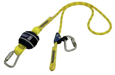3M™ DBI-SALA® Force2™ Triple Action Adjustable Shock Absorbing Kernmantle Rope Lanyard - Single Tail