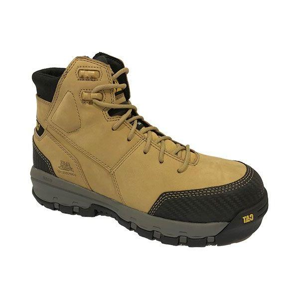 CAT Device Side Zip Waterproof Work Boot - Honey