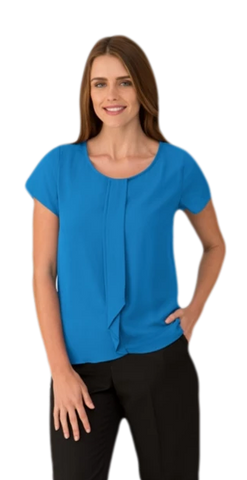 City Collection So Ezy Cascade Short Sleeve Top