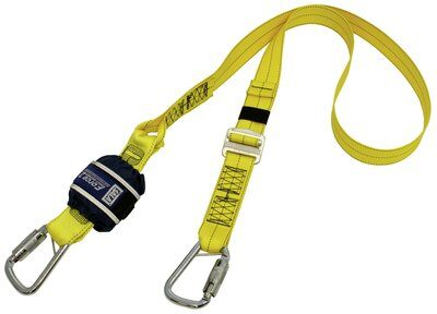 3M™ DBI-SALA® Force2™ Triple Action Adjustable Shock Absorbing Webbing Lanyard - Single Tail