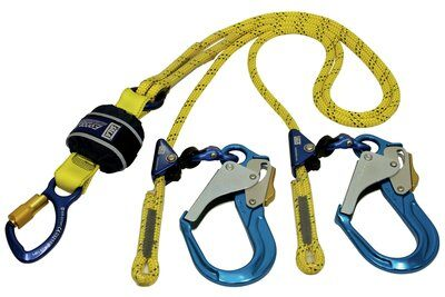 3M™ DBI-SALA® Force2™ Triple Action Adjustable Shock Absorbing Kernmantle Rope Lanyard - Twin Tail