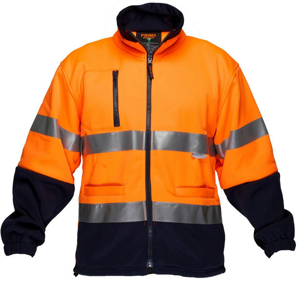 Primemover HiVis Water Repellent Fleecy Jumper With Tape