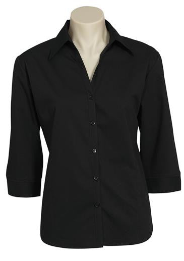 Biz Black Metro 3qtr Sleeve Shirt