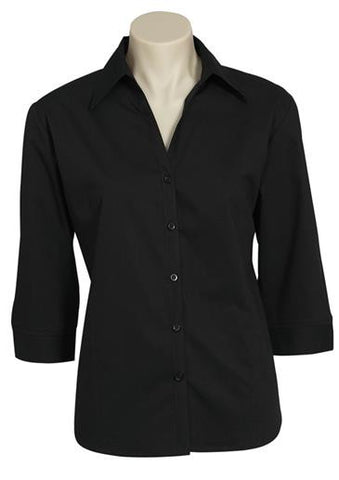 Biz Metro Stretch 3qtr Sleeve Shirt