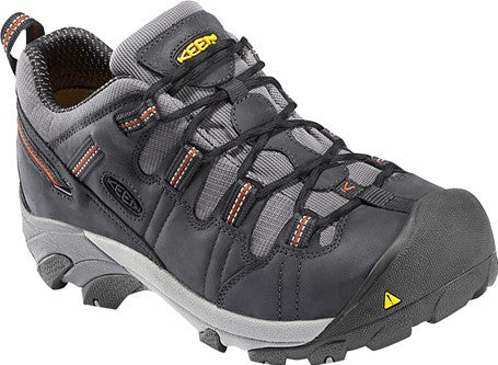 KEEN Men's Waterproof Detroit Low Leather Shoe With Steel Toe