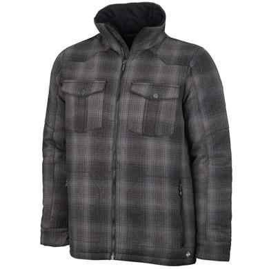 Mens Columbia Black Plaid Jagger Path Jacket