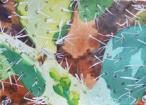 Sydney Francis, Mixed Media, Cactus at Oak Creek