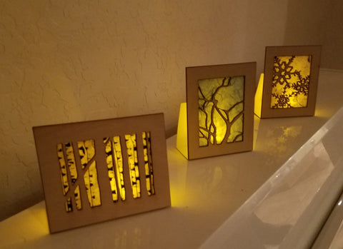 The magic of Illuminotes, fine art greeting cards that fold into an LED keepsake