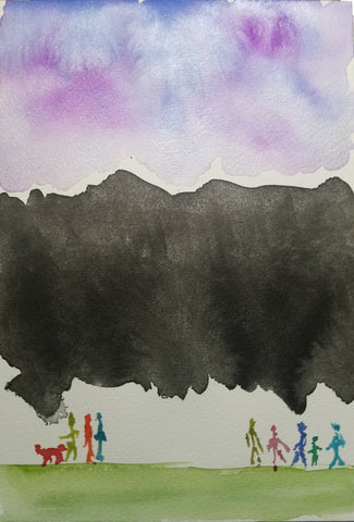 """""""Mental Darkness"""" by Sydney Francis, watercolor, 2021"""
