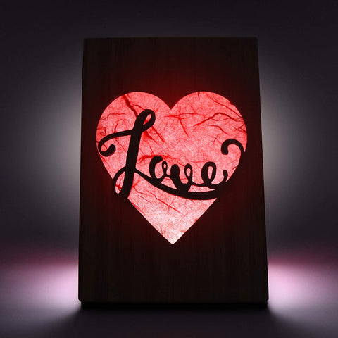 HeartSpace Cards, Love light-up Greeting card with built-in LED light
