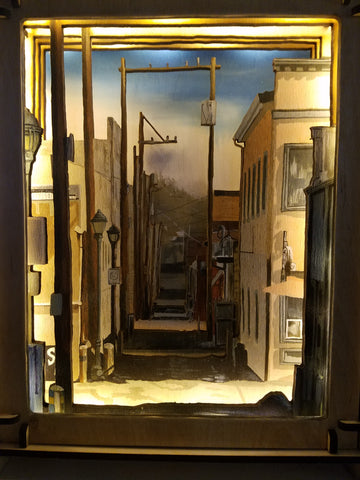 """Flagstaff Alley"", light box, by Sydney Francis and Scott Moore"