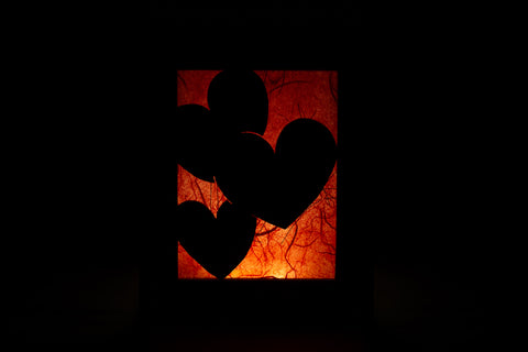 Liquiterra Heart Illuminote.  We designed this one with a built in LED light.