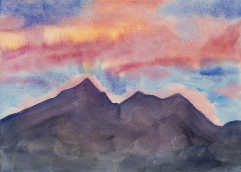 """Peaks Aura"", watercolor by Sydney Francis"